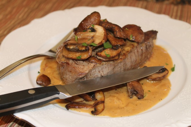 Filet Mignon with a Sherry Cream Sauce