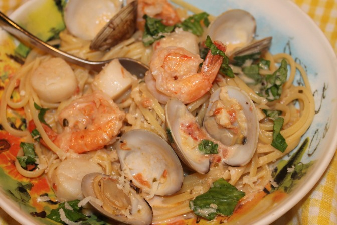 Scrumptious Seafood Pasta Dish