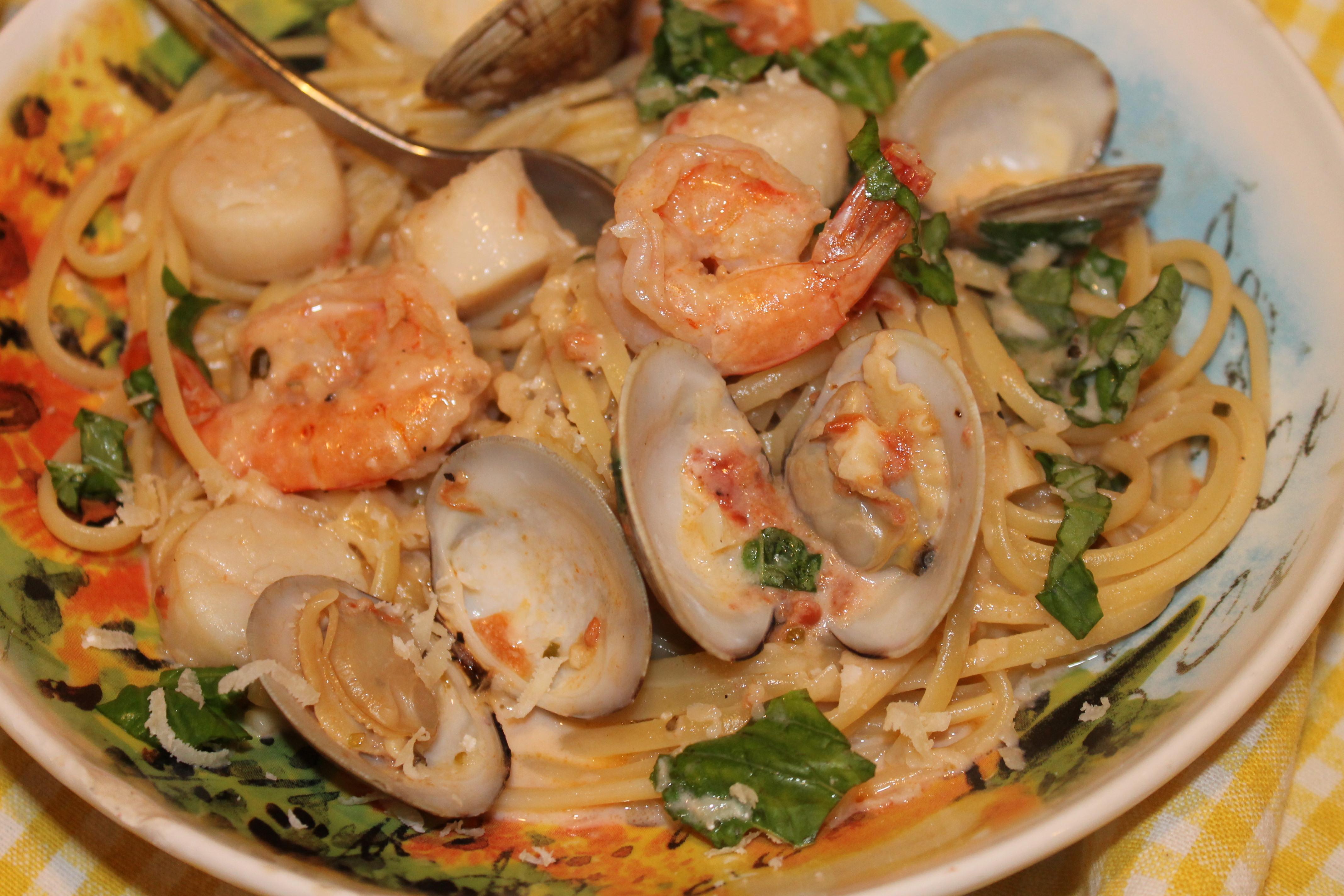 how to make seafood linguine