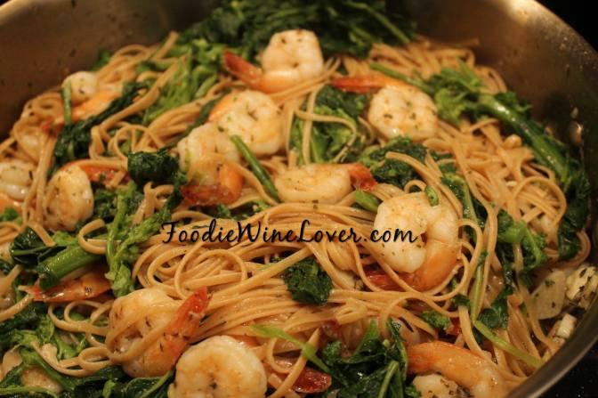 Organic Whole Wheat Pasta with Broccoli Rabe & Shrimp