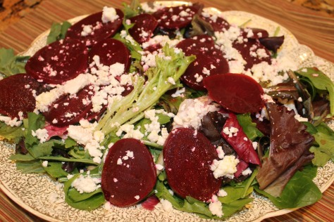 Beets and Goat Cheese