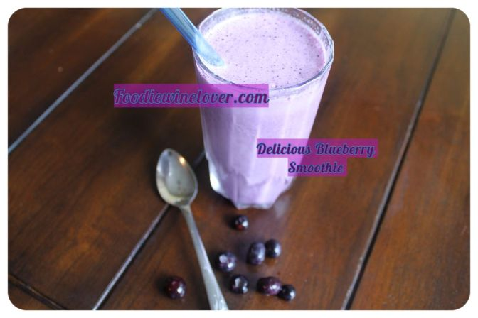 Delicious Blueberry Smoothie