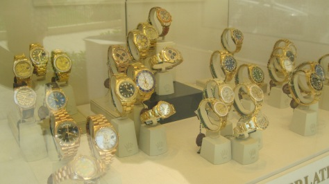 Luxurious watches in Monte Carlo