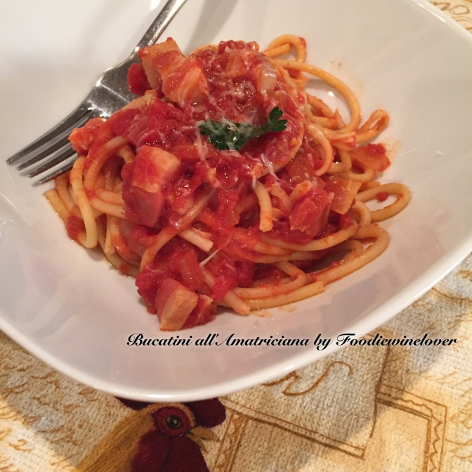 Bucatini all'Amatriciana, an Italian Classic Pasta Dish