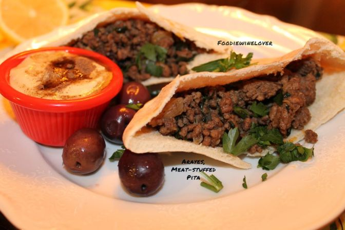 Arayes, A Delicious Middle Eastern Meat-Stuffed Pita