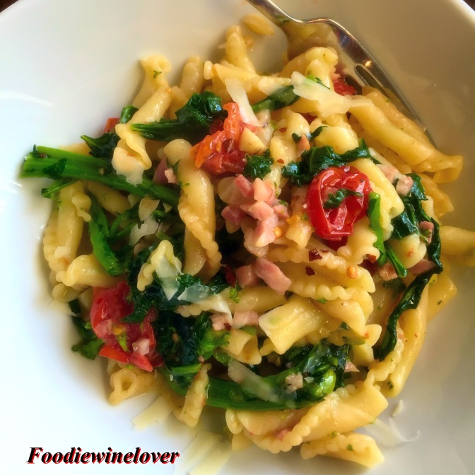 Aglio e Olio with Broccoli Rabe & Roasted Tomatoes