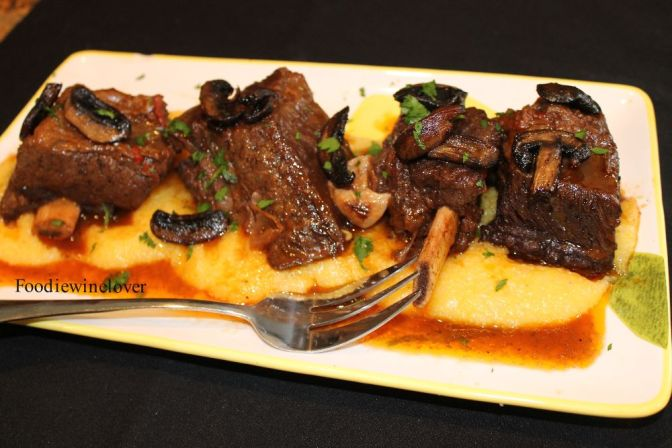 Short Ribs braised in Red Wine over Polenta