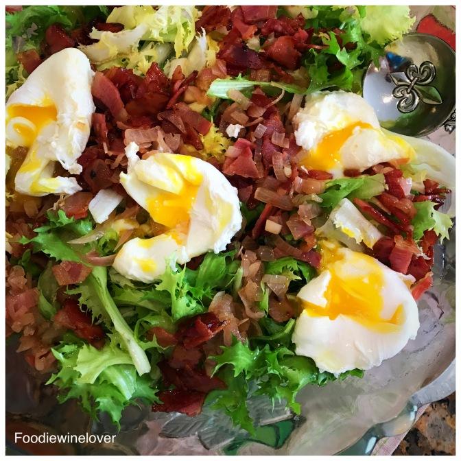 Salade Lyonnaise/Frisée Salad with Pancetta