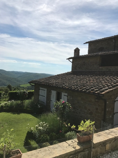 The views at Fattoria di Montemaggio