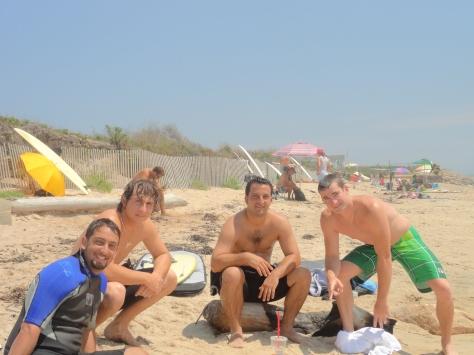 Cousins at Ditch Plains Beach in Montauk